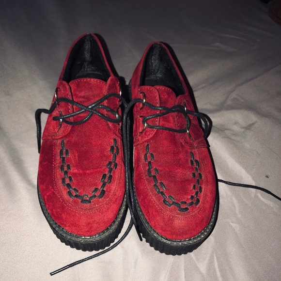 b98c87e74 Shoes | Red Platform Creepers | Poshmark